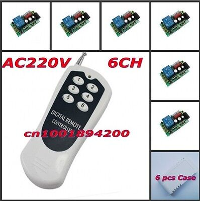 RF Remote Control Switch AC220V 6CH Light Lamp LED Bulb Remote ON OFF 315/433.92
