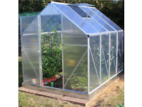 GREENHOUSE EX DISPLAY POLYCARBONATE HINGED DOOR 6FT X 6FT