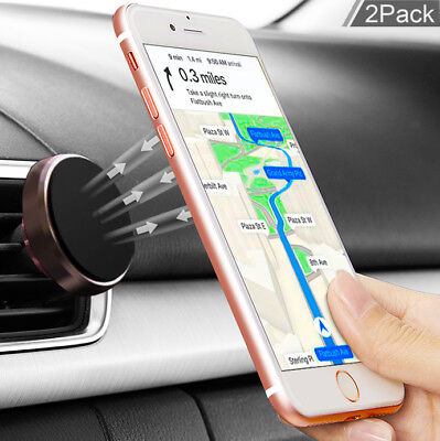 Plus Phone Cradle - For iPhone XS/XR/8/7/6 Plus Phone GPS Air Vent Magnetic Car Mount Cradle Holder