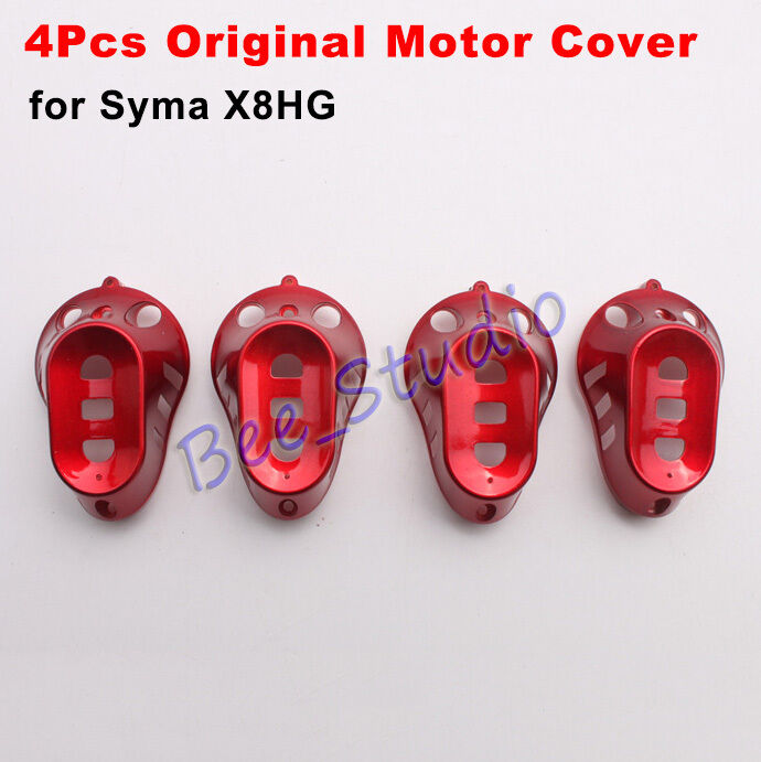 4PCS Red Engine Motor Base Cover Cap For Syma X8HG RC Quadcopter Drone Parts