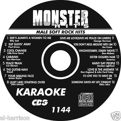KARAOKE MONSTER HITS CD+G MALE SOFT ROCK HITS  #1144