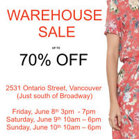 Tenth and Proper WAREHOUSE SALE - 70% OFF LADIES FASHION