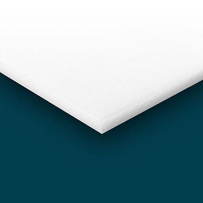 Delrin - Acetal Plastic Sheet .500 - 12 X 12 X 12 - White Color