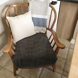 Wooden Country Style Armchair
