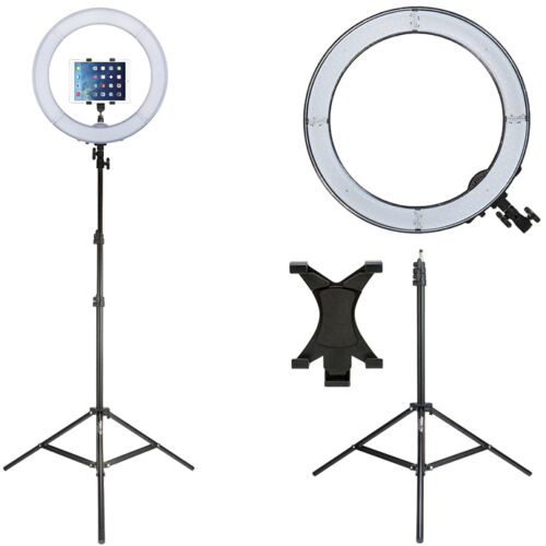 Prismatic LED Halo Ring Light w/ Light Stand & Tablet Mount
