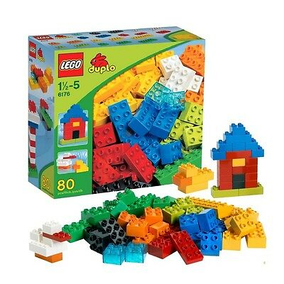 - LEGO 6176 DUPLO Blocks Basic Bricks Retired 80 PCS Discontinued by Manufacturer