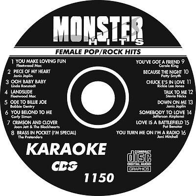 KARAOKE MONSTER HITS CD+G 80's FEMALE POP ROCK HITS   #1150 80s Pop Hits Cd