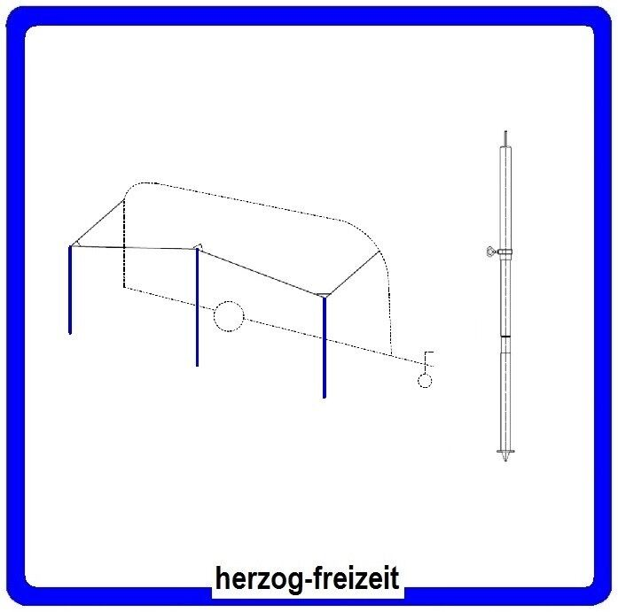 Zeltstange 160-250 cm 22mm Teleskop Aufstellstange für Zelt Vordach Tarp Vorzelt