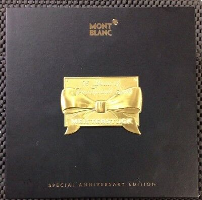 MONTBLANC MIESTERSTUCK 75TH ANNIVERSARY LIMITED EDITION ORIGINAL BOX ONLY NO PEN