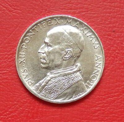 "Vatikan: 5 Lire ""Papst Pius XII. 1939-58"" 1940 -Ag.- !!"