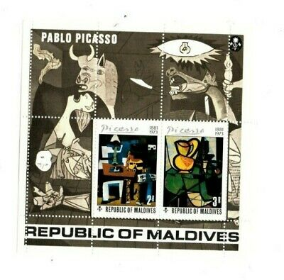VINTAGE CLASSICS - MALDIVES SC# 495 - Pablo Picasso art - S/S - MNH