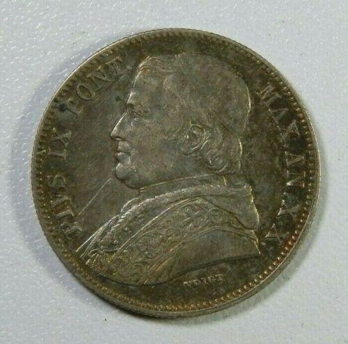 Vatican Coin 20 Baiocchi 1865