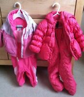 Columbia fleece lining winter jackets and matching snow pants