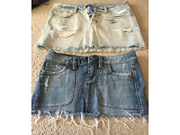 Short denim skirts size 8
