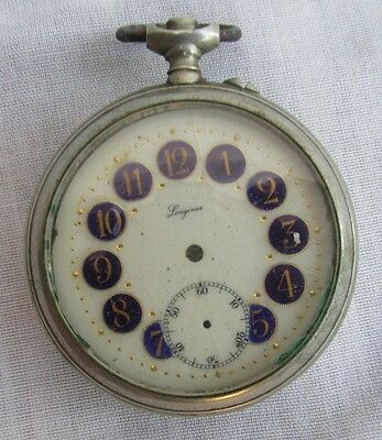 OLD POCKET WATCH CASE ONLY, LONGINES, ONLY FOR RESTORE OR PARTS