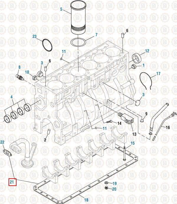 [DIAGRAM_5NL]  Oil Pan Gasket Kit for International DT466E. PAI 431277 Ref# 1826587C1  1822049C1 | eBay | International Dt466 Engine Oil Diagram |  | eBay
