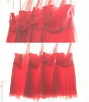 Coral bridesmaids dresses Alfred Angelo designer