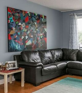 Large 5ft x5ft abstract oil painting