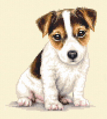 JACK RUSSELL TERRIER dog, pup - full counted cross stitch kit by Jann Designs