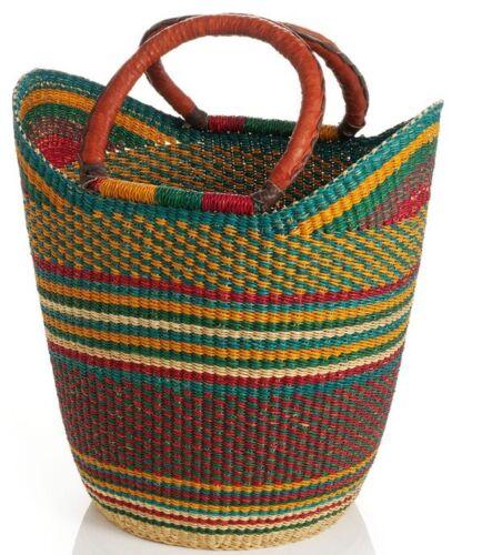 Yikene U-Shopper  Ghana Basket   Market Basket - Orange