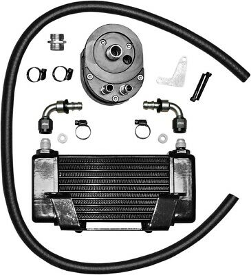Jagg Lowmount 10-Row Oil Cooler System Black #750-2400 Harley Davidson