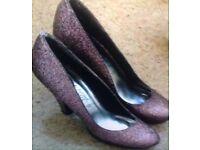 Sparkle Ladies/ Girls Size 3 High heel shoe