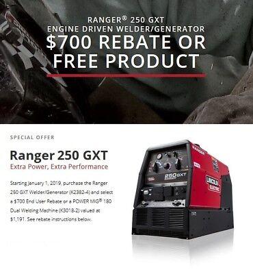 Lincoln Ranger 250 Gxt Engine Welder Generator New K2382-4