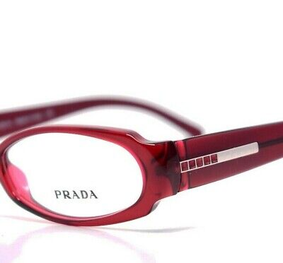 PRADA Eyeglasses Red Stone 04G 2BM 50-15-135 New (Red Prada Eyeglasses)