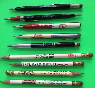 Assorted Historical State Farm Insurance Pencils