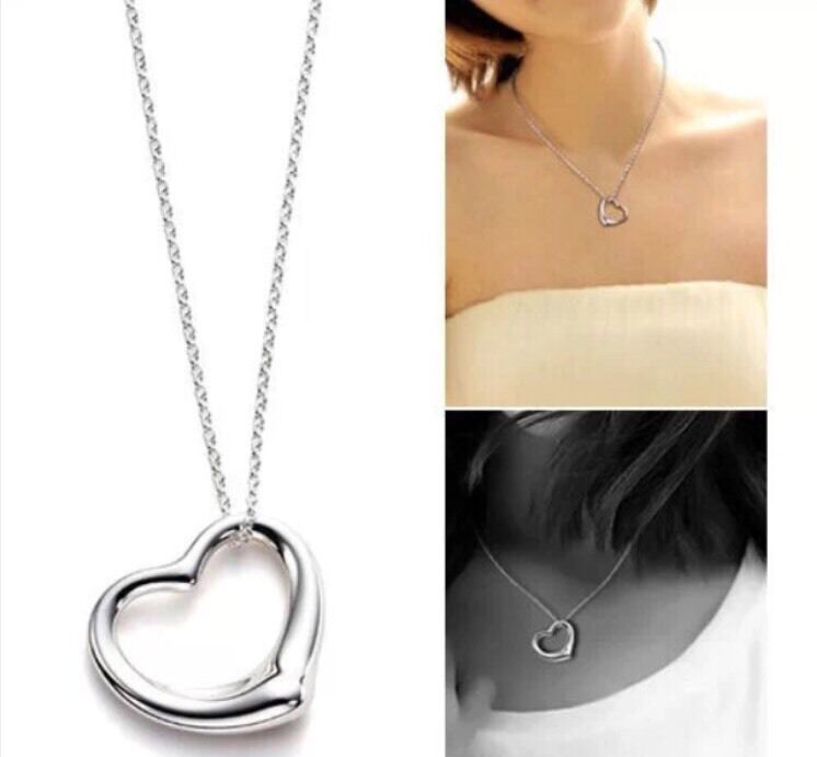 10 x Silver Heart Necklaces Wholesale Joblot Car Boot High Quality Jewellery UK
