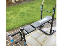York Bench plus 88kg plastic weights and bars