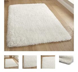 Ivory white thick shaggy rugs