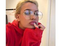 Clear lense stylish glasses