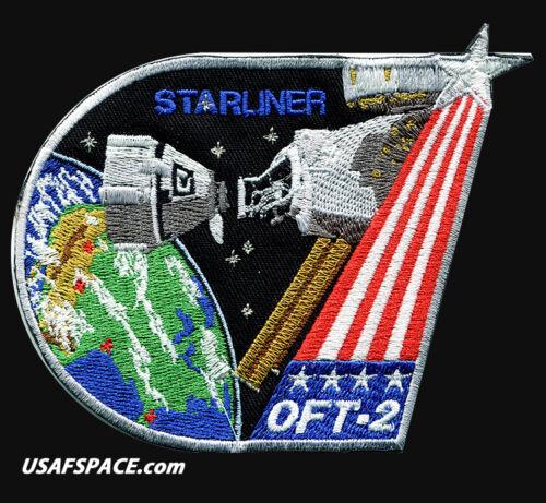 "BOEING Starliner - OFT-2 - ORIGINAL AB Emblem 4.5"" SPACE Mission PATCH MADE USA"
