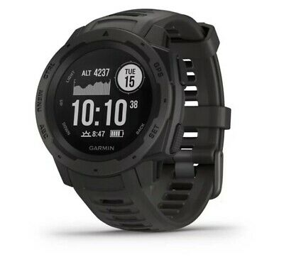 Garmin Instinct Rugged Outdoor GPS Watch, GLONASS, 3-axis Compass, HR, Graphite