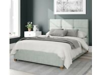 Quality upholstered King size bed frame