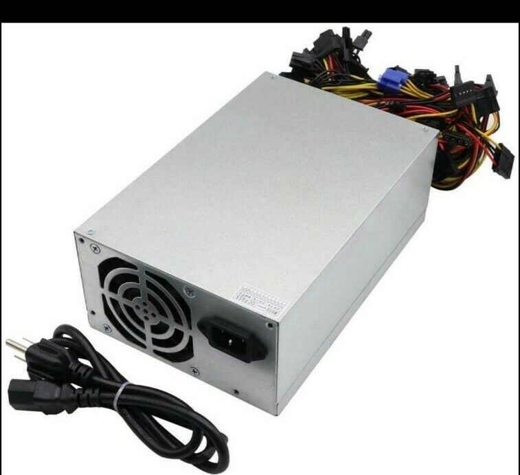 Bitcoin Power Supply 1600w 90+ gold For 8 gpu 24 pin 6+2 2 fan
