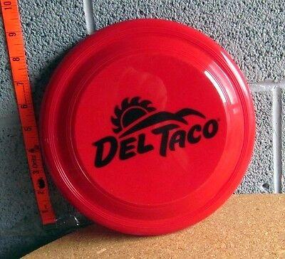Del Taco Red Flying Disc Mexican Restaurant Frisbee Fast Food Sun Logo Garyline