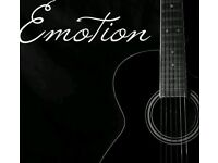 EMOTION-FULLY LIVE TWO PIECE BAND, AVAILABLE FOR BOOKINGS.