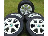 5x100 Alloy wheels - suit VW AUDI SEAT SKODA VOLKSWAGEN with tyres