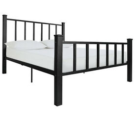 Gabe Black Bed Frame - Small Double