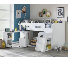 Collection Ultimate Storage Midsleeper Bed - White