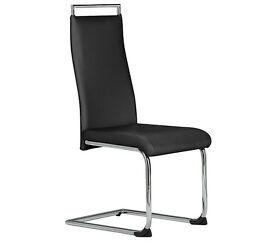 Hygena Pair of Cantilever Dining Chairs - Black