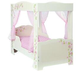 HOME Rose 4 Poster Toddler Bed Frame - Multicoloured