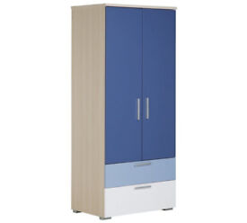 Billie 2 Door 2 Drawer Wardrobe - Blue
