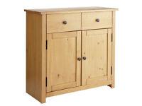 already built up Porto Solid Wood 2 Door 2 Drawer Sideboard- Oak Effect