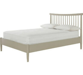 Heart of House Dorset Spindle Double Bed Frame - Putty