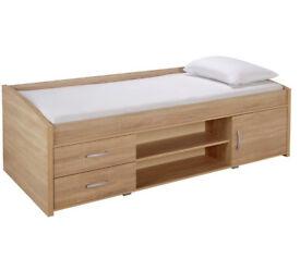 HOME Yanniek Cabin Bed Frame - Oak