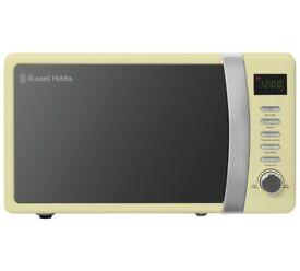 Russell 700W Standard Microwave - Cream