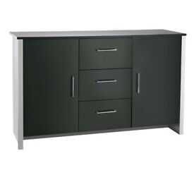 HOME San Marino 2 Door 3 Drawer Sideboard - Black